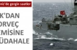 'TSK'dan Norveç Gemisine Müdahale''