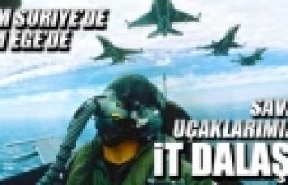 ''Türk savaş uçaklarına çifte taciz!''