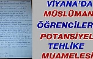 Viyana'da Okul Yöneticisi, Müslüman Öğrencileri...
