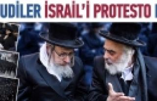 ''Yahudiler İsrail'i protesto etti''