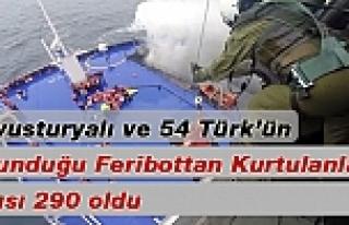 Yanan Feribotta 54 Türk ve 6 Avusturyalı Bulunuyor
