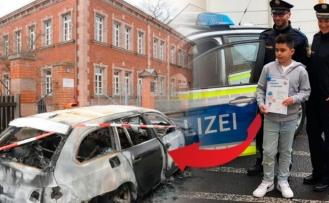 Alman polisinden Kenan'a 'Süper Kahramanlık' sertifikası
