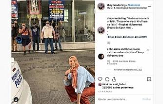 Müslüman kız, aşırı sağcıların protestolarını gölgede bıraktı
