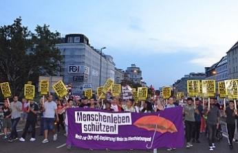 Viyana'da AB Göç politikaları protesto edildi