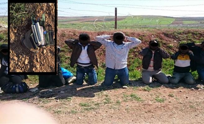 Türkiye sınırında biri canlı bomba 10 DAEŞ üyesi yakalandı