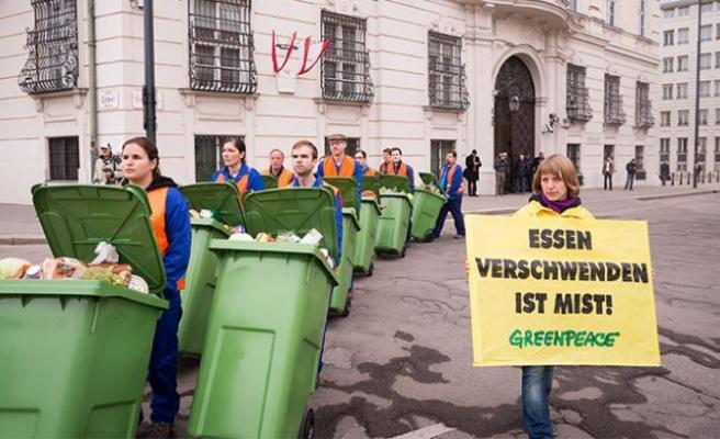 Viyana'da  'Gıda İsrafına' karşı anlamlı protesto