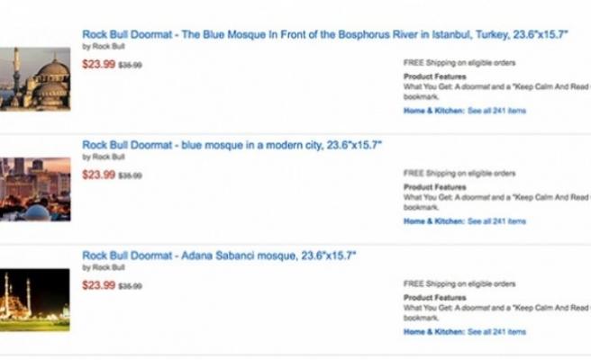 Amazon'da skandal satış hala devam ediyor. Üzerinde Kur'an ve Camii bulunan...