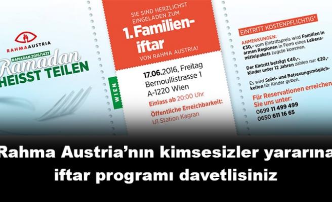 Rahma Austria'dan 'kimsesizler yararına' iftar programı