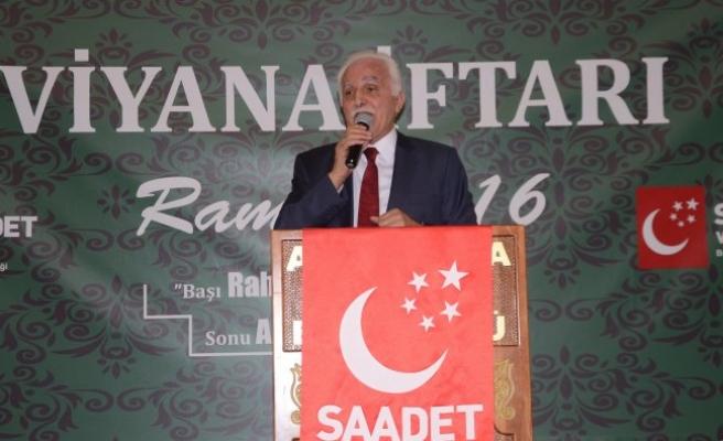 Saadet Partisi Genel Başkanı Kamalak, Viyana'da