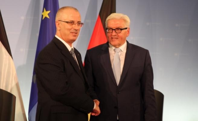 Filistin Başbakanı Hamdallah - Almanya Dışişleri Bakanı Steinmeier görüşmesi