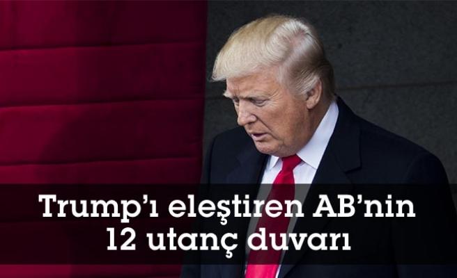 Trump'ı eleştiren AB'nin 12 utanç duvarı
