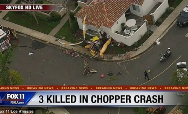 Helikopter eve girdi!