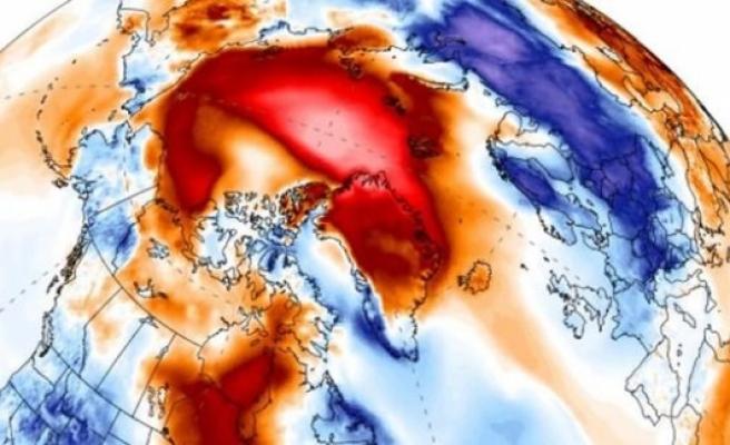 Dünya tepetaklak oldu, Kuzey Kutbu 30 derece daha sıcak!