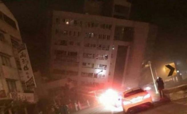 Tayvan'da deprem! İlk görüntüler korkunç!