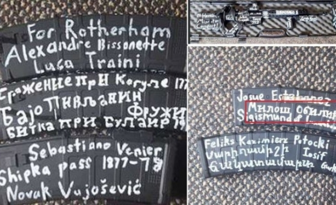 49 kişinin katili olan canilerin silahlarındaki mesajlar!