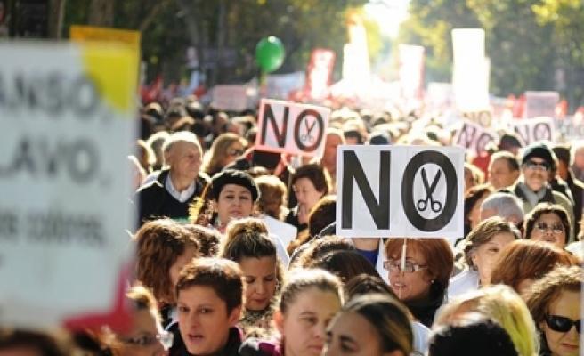 ''İspanya'da Dünya Ekonomik Forumu protestosu'