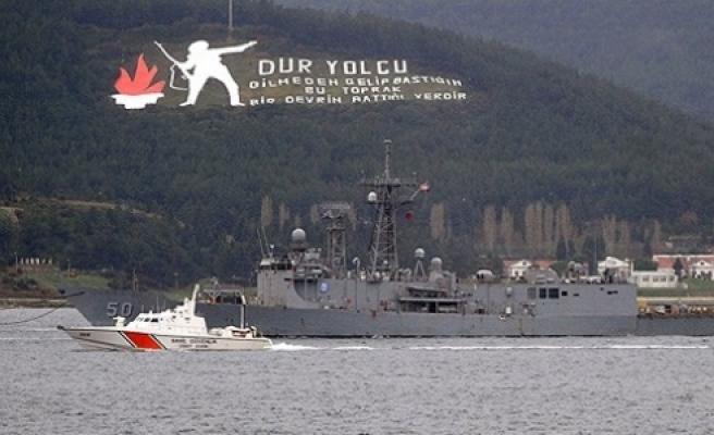 ''ABD savaş gemisi Çanakkale Boğazı'ndan geçti''