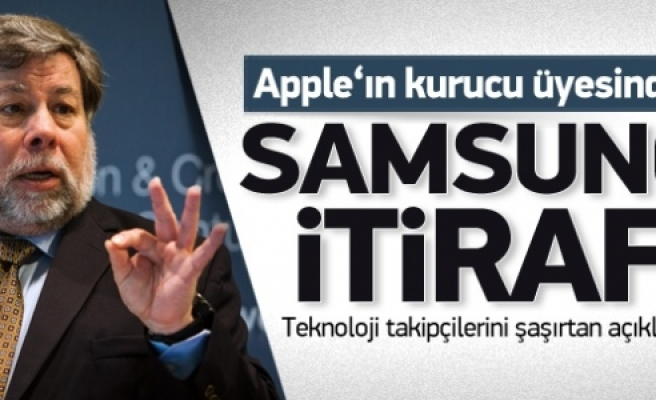 ''Apple'ın kurucusundan Samsung itirafı''