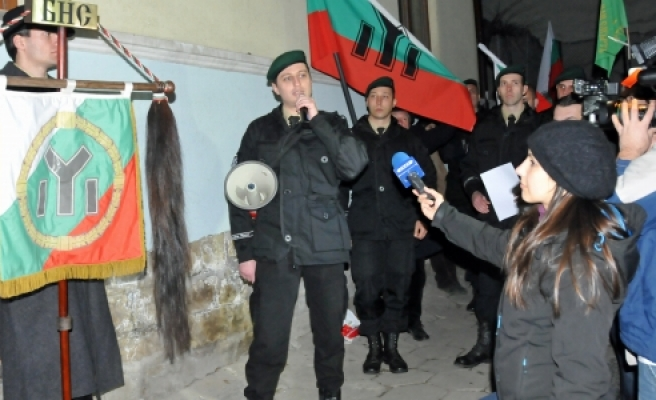 ''Bulgaristan'da izinsiz yürüyüş''