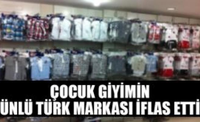 Çocuk giyimin ünlü Türk markası iflas etti