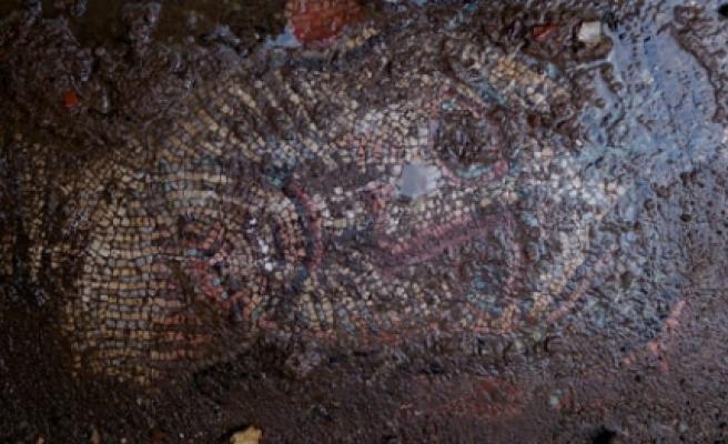 ''İnsan yüzü figürlü mozaik bulundu''