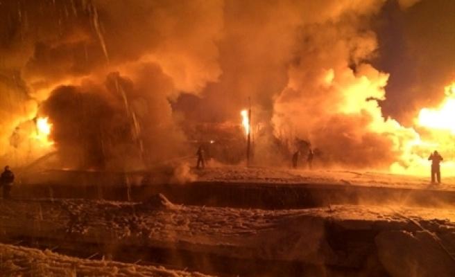 ''Rusya'da doğalgaz yüklü tren havaya uçtu''