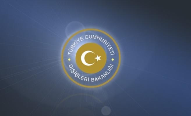 Türkiye Cumhuriyeti Dışişleri Bakanlığı duyurusu''