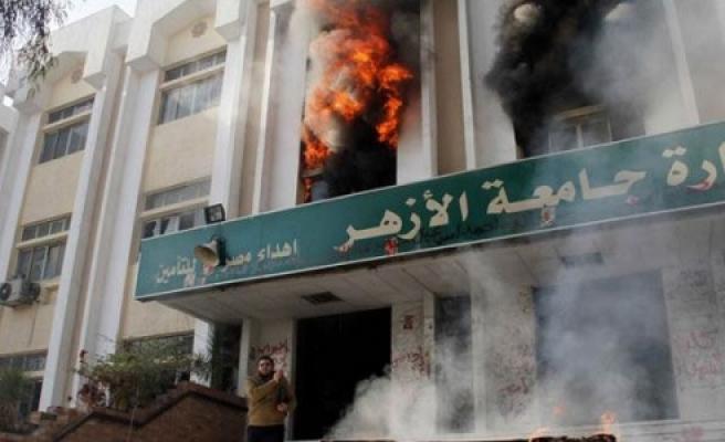 ''Üniversite'de Yangın''