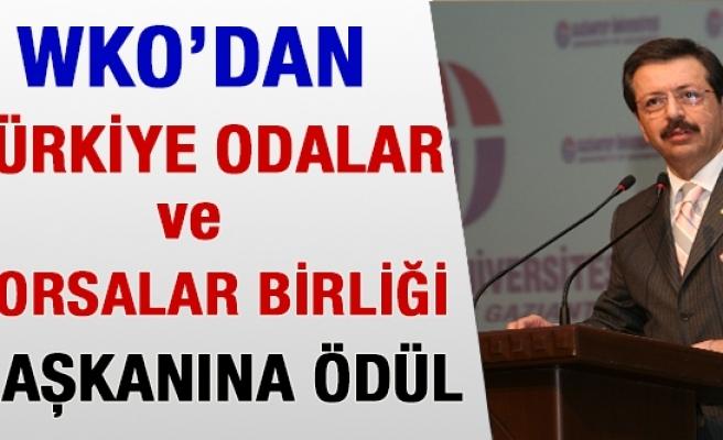 WKO'dan Türkiye Odalar ve Borsalar Birliği Başkanına Ödül
