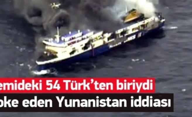 Yanan gemide kurtarılan Türk'ten şoke eden sözler