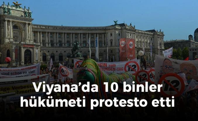 Viyana'da tarihi protesto: 100 bini aşkın kişi katıldı