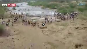 Kuruyan nehir 20 yıl sonra tekrar aktı