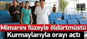 Kuzey Kore'de lüks havaalanının açılışı yapıldı