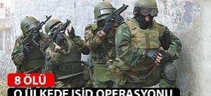 O ülkede IŞİD operasyonu: 8 Ölü
